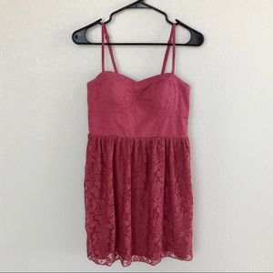 { American Eagle Outfitters } Pink Lace Dress